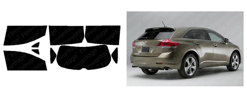 Toyota venza 09 14 precut window tint super high heat for 14 window tint