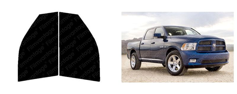 Dodge Ram 1500 Quad 09-16 Precut Front Doors Tint