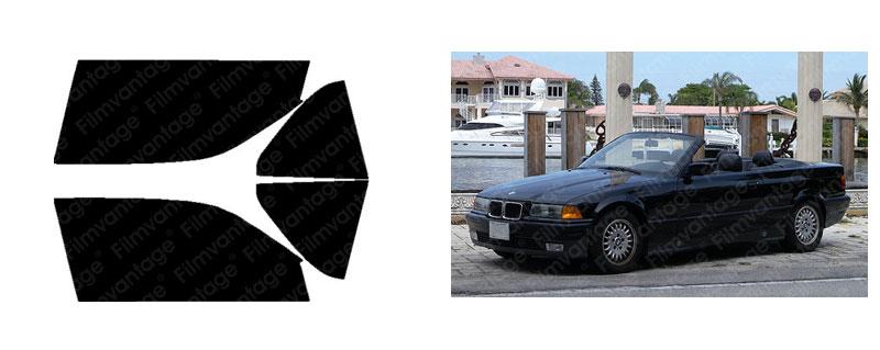 UCD PRECUT SUN STRIP WINDOW TINT FILM FOR BMW 325iC 325i CONVERTIBLE 94-95