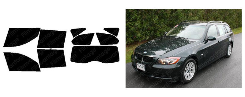 TINTGIANT PRECUT SUN STRIP WINDOW TINT FOR BMW 535i 535xi 4DR SEDAN 08-10