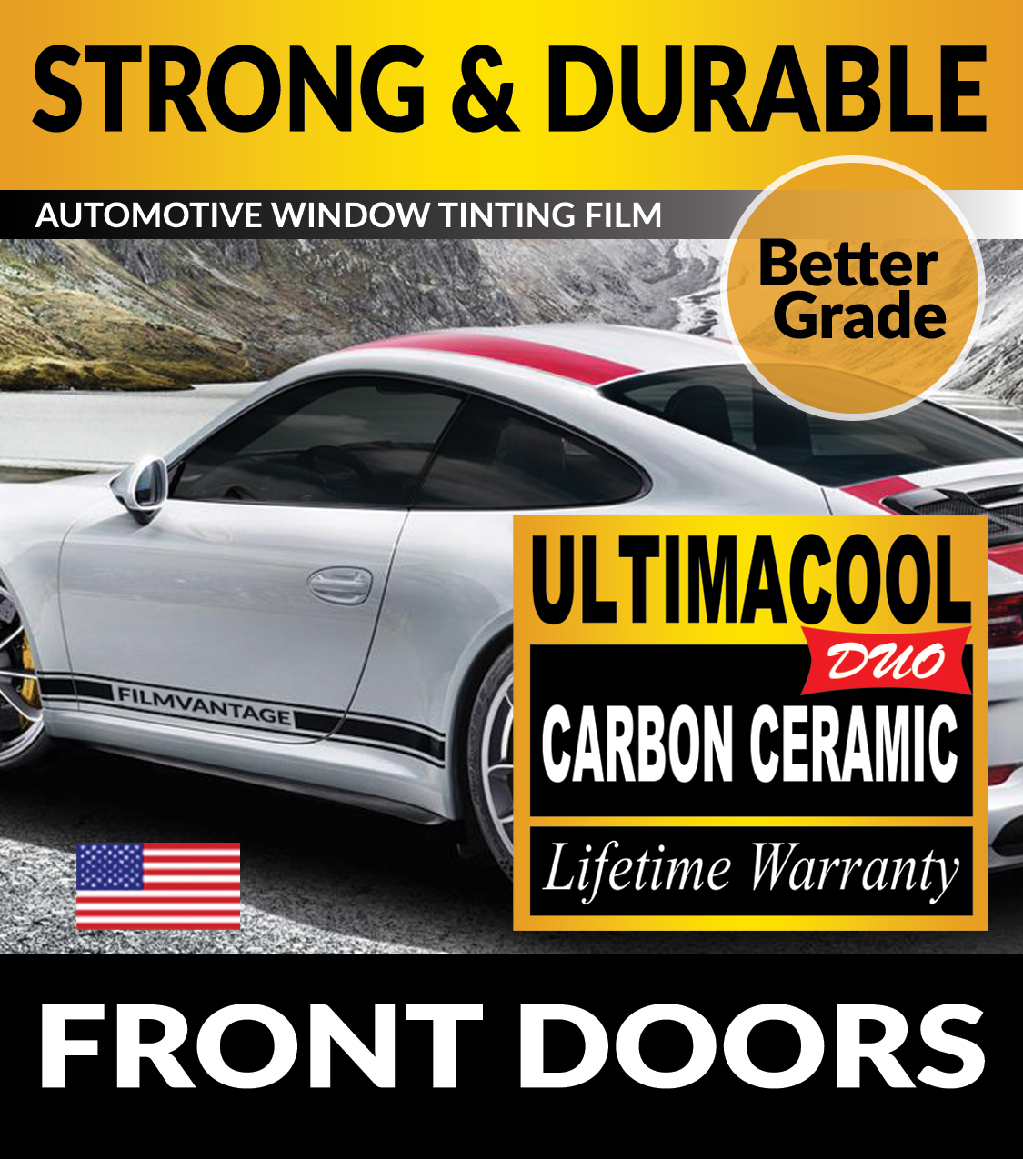 UCD PRECUT FRONT DOORS WINDOW TINTING TINT FILM FOR CHEVY S-10 BLAZER 2DR 95-05